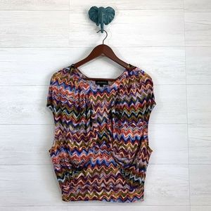 The Podolls Anthropologie Multicolor Painted Top